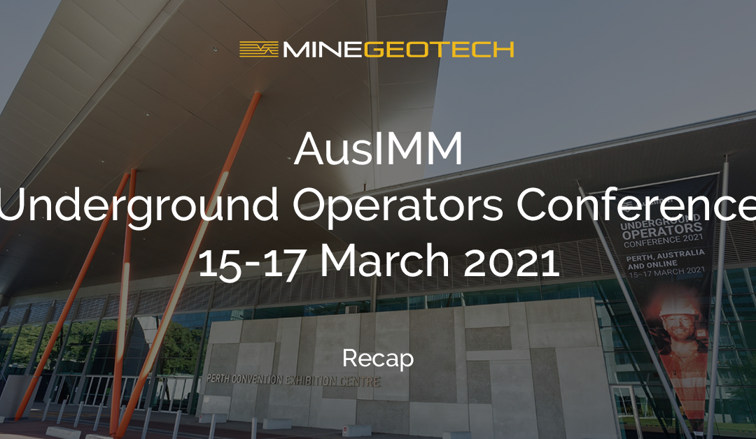 AusIMM Underground Operators Conference March 2021 Gallery