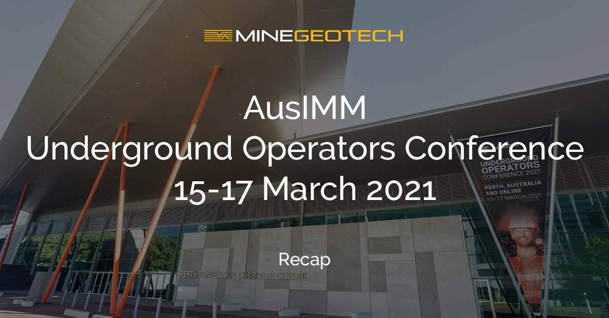 MGT at the AusIMM Underground Operators Conference Recap